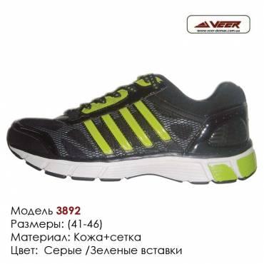 Кроссовки Veer 41-46 сетка - 3892 серые, зеленые вставки. Купить кроссовки в Одессе.