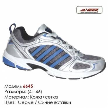 Кроссовки Veer сетка - 6645 серые, синие вставки. Купить кроссовки в Одессе.