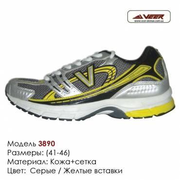 Кроссовки Veer сетка - 3890 серые | желтые вставки. Купить кроссовки в Одессе.