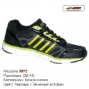 Кроссовки Veer сетка - 3892 черные | зеленые вставки. Купить кроссовки в Одессе.