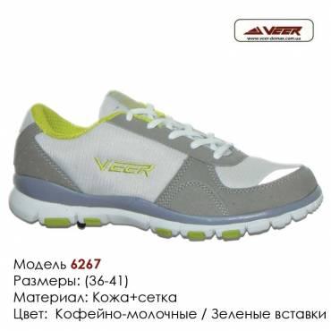 Кроссовки Veer сетка - 6267 серые | зеленые вставки. Купить кроссовки в Одессе.