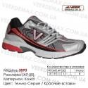 Кроссовки Veer сетка - 3890 - серые | красные вставки. Большие размеры. Купить кроссовки veer в Одессе оптом.