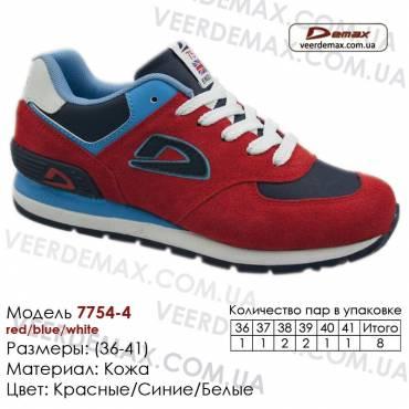 Кроссовки Demax - 7754-4 кожаные 36-41 красные, белые, синие. Купить кроссовки demax
