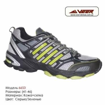 Кроссовки Veer сетка - 6653 - серые|зеленые