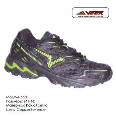 Кроссовки Veer сетка - 6650 - черные, зеленые